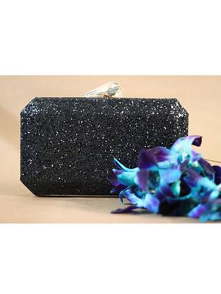 Black Shimmer Coat Clutch