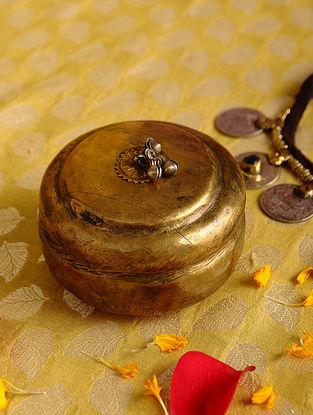 Vintage Handmade Brass Box (L - 3.6in, W - 3.6in, H - 2.3in)