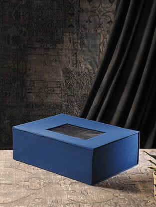 Blue Cardboard Gift Box (L:13.5in, W:18.7in, H:6.3in)