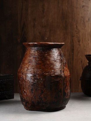 Vintage Hand Carved Wood Pitcher (L:12.6in, W:12.6in, H:15in )