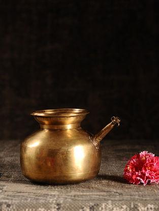 Golden Brass Vintage Water Pot (L- 6.2in, W- 4in, H- 5in)