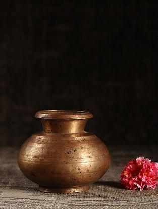 Golden Brass Vintage Lota Pot (L- 3.6in, W- 3.6in, H- 5.5in)