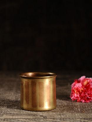 Golden Brass Vintage Pot (L- 3in, W- 3in, H- 2.6in)
