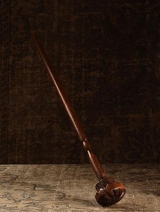 Brown Wood Vintage Churner (L- 3.6in, W- 3.6in, H- 30.5in)