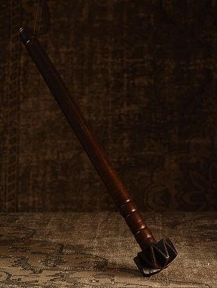 Brown Wood Vintage Churner (L- 3.5in, W- 3.5in, H- 25in)