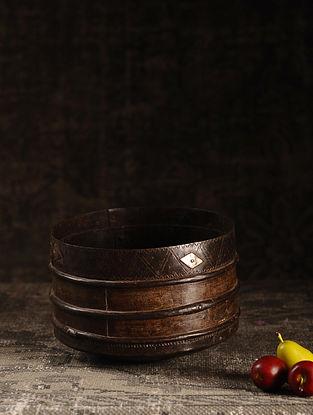Brown Iron Vintage Grain Measures (L- 8.7in, W- 8.7in, H- 6in)