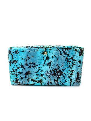 Blue Batik-Printed Silk Sling Bag