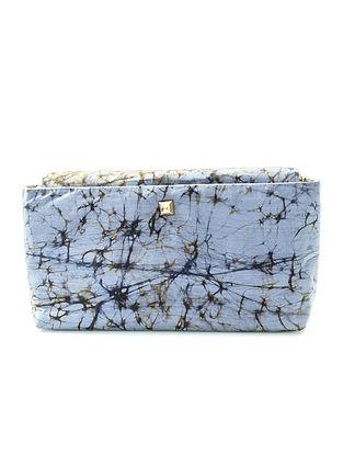 Grey Batik-Printed Silk Sling Bag