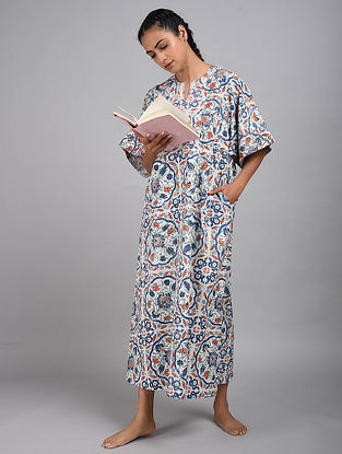 Turkish Tiles Printed Cotton Kaftan