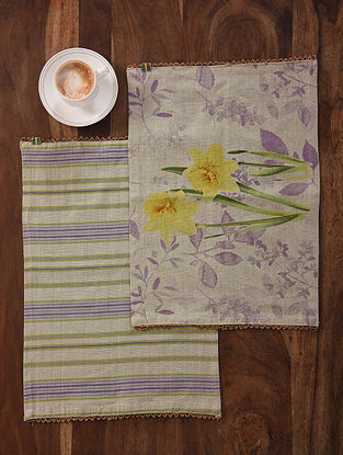 Lavender Meadows Digital Printed Cotton Placemats (Set of 2) (19in x 13in)