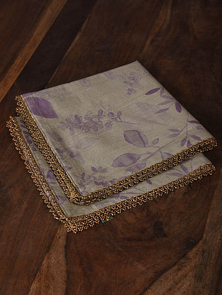 Lavender Meadows Digital Printed Cotton Napkins (Set of 2) (18in x 18in)