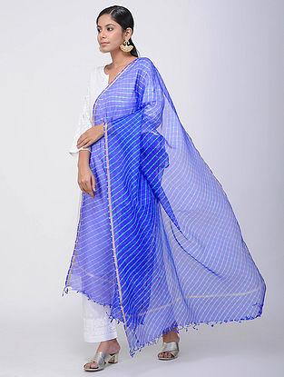 Blue Leheriya Kota Silk Dupatta with Zari Border