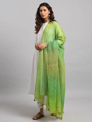 Green Leheriya Kota Cotton Dupatta