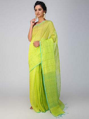 Green Silk Jamdani Saree