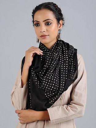 Black Bandhani Cotton Stole