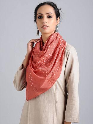 Pink Bandhani Cotton Stole