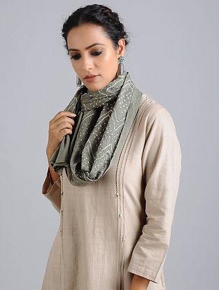 Grey Bandhani Cotton Stole