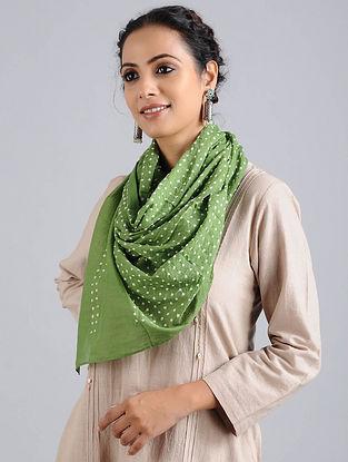 Green Bandhani Cotton Stole