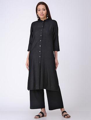 Black Silk Kurta