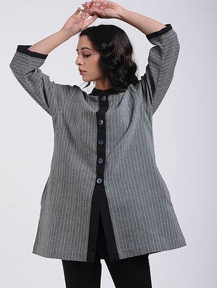 Charcoal Handwoven Cotton Jacket