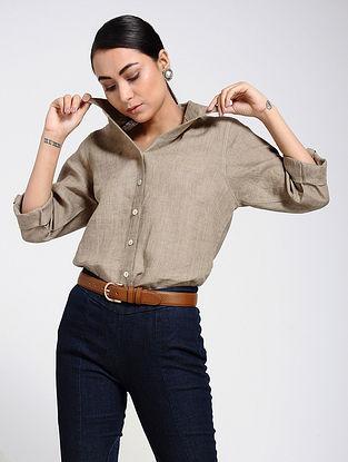 Beige Linen Shirt