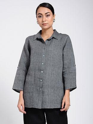 Charcoal Linen Shirt
