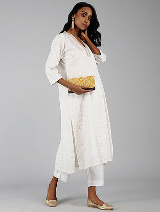 2cd0f3fa9c Ivory Cotton Kurta with Pants (Set of 2)