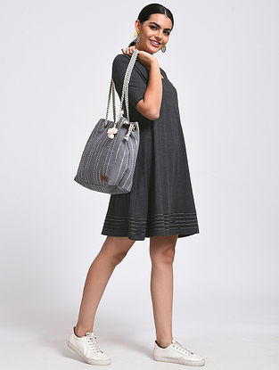 Charcoal Cotton Blend Dress