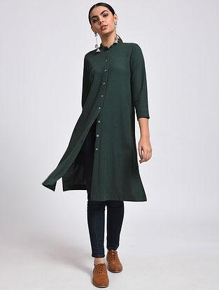 Green Cotton Blend Kurta