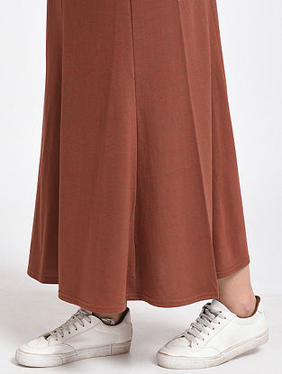 Rust Cotton Blend Skirt
