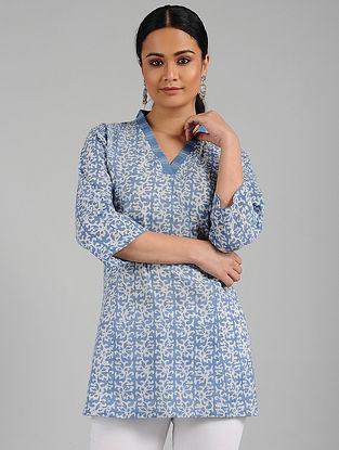 Blue Batik Print Cotton Tunic