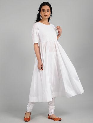 Ivory Cotton Kurta with Aari Work