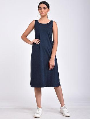 Navy Cotton Blend Dress