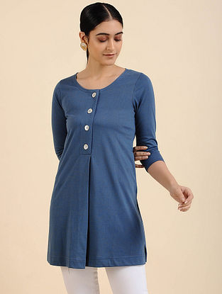 Indigo Cotton Blend Tunic