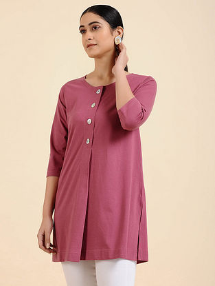 Pink Cotton Blend Tunic