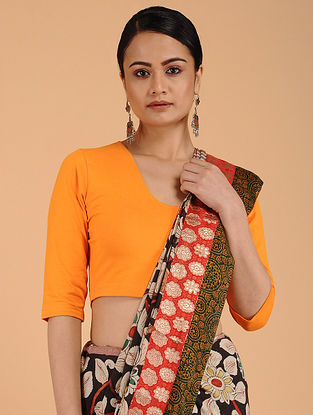 Orange Cotton Lycra Blouse