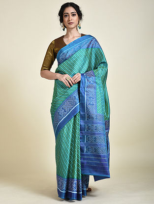Green-Yellow Patola Silk Saree