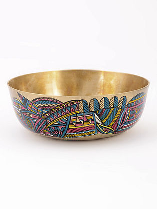 Kansa Bowl with Pattern Artwork by Baarique 4.5in x 1.5in