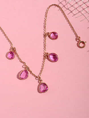 Gold and Pink Sapphire Bracelet