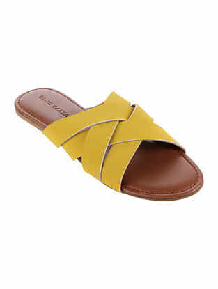 Yellow Handcrafted Flats