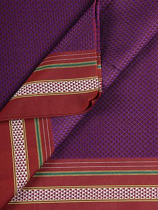 Magenta-Red Cotton Blend Khann Fabric