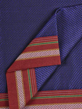 Blue-Red Cotton Blend Khann Fabric
