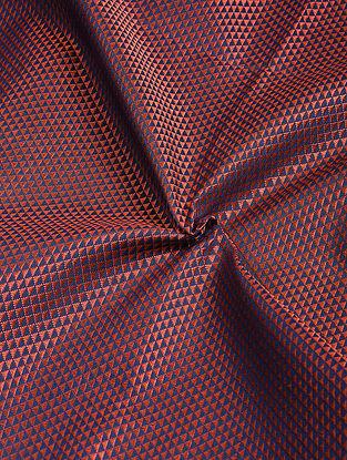 Red-Blue Cotton Blend Khann Fabric