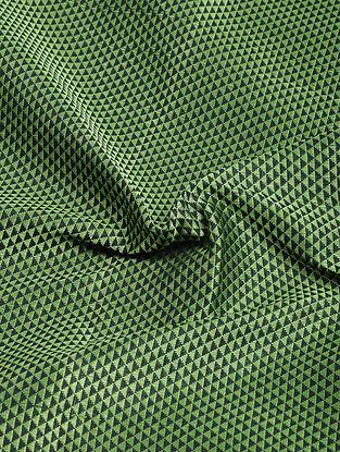 Green-Black Cotton Blend Khann Fabric