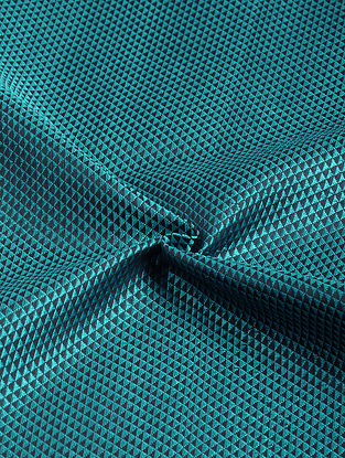 Blue-Black Cotton Blend Khann Fabric