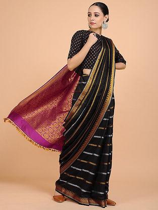 Black-Golden Handwoven Silk Saree