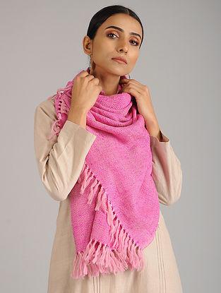 Pink Handwoven Silk Wool Stole