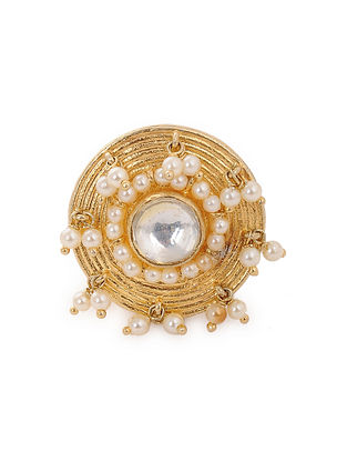 Gold Plated Borla with Pearls