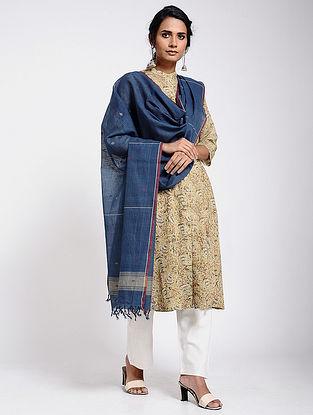 Blue Jamdani Cotton Dupatta