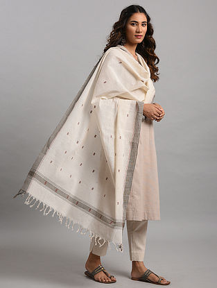 Ivory Natural Dyed Cotton Dupatta